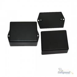 Caixa Plástica / Case para Montagem 61x49x26mm C/ Aba – Preto